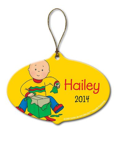 Look what I found on #zulily! Caillou Gift Personalized Ornament by Caillou #zulilyfinds
