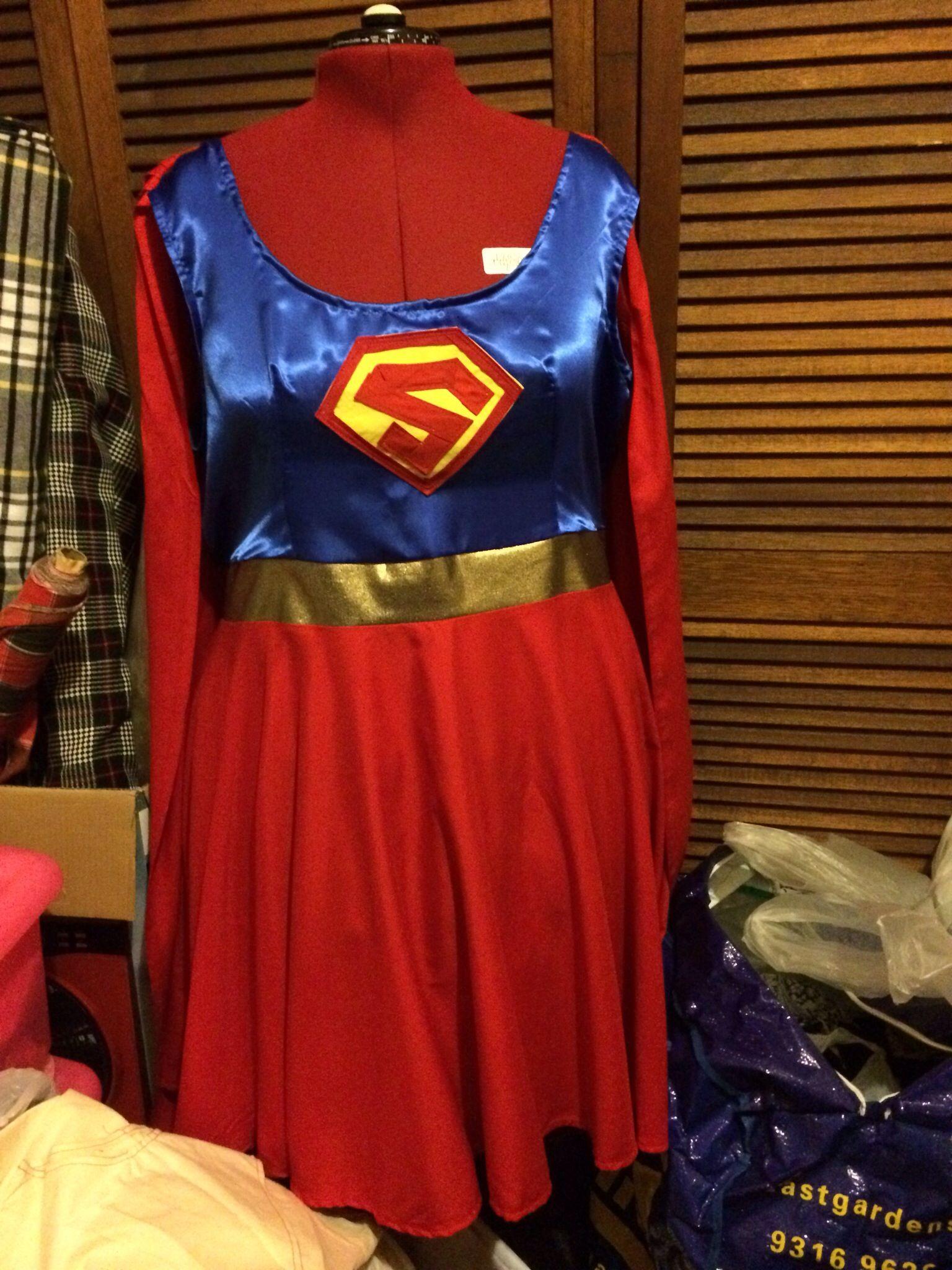 diy plus size super girl costume