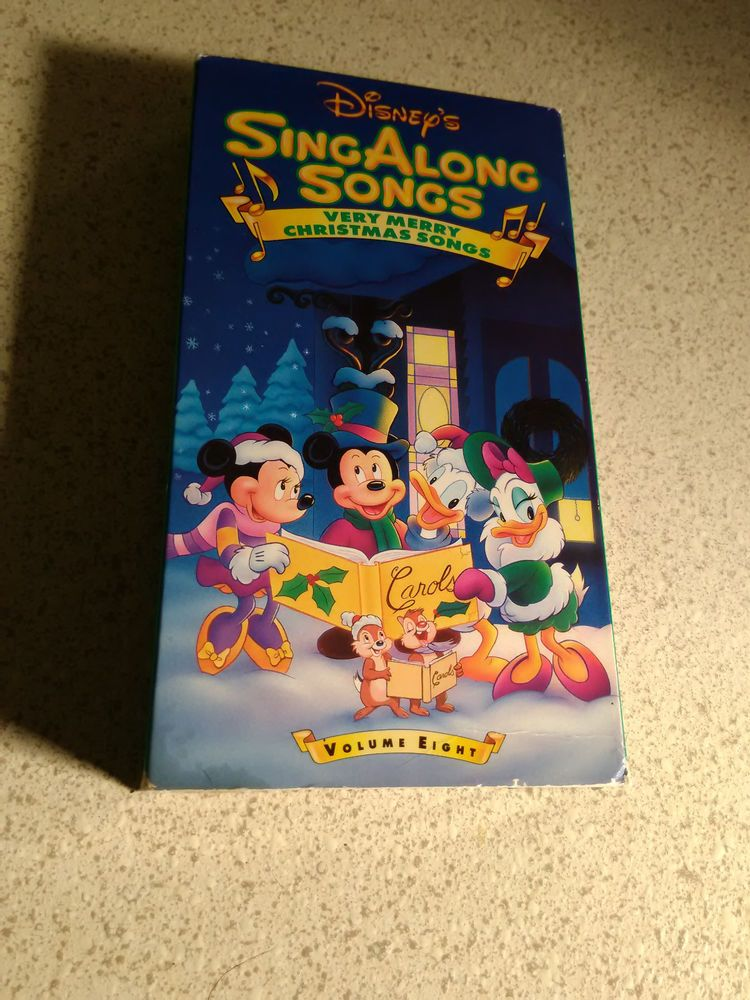 Disney Sing Along Songs A Very Merry Christmas Songs Vol 8 VHS tape   Merry christmas song ...