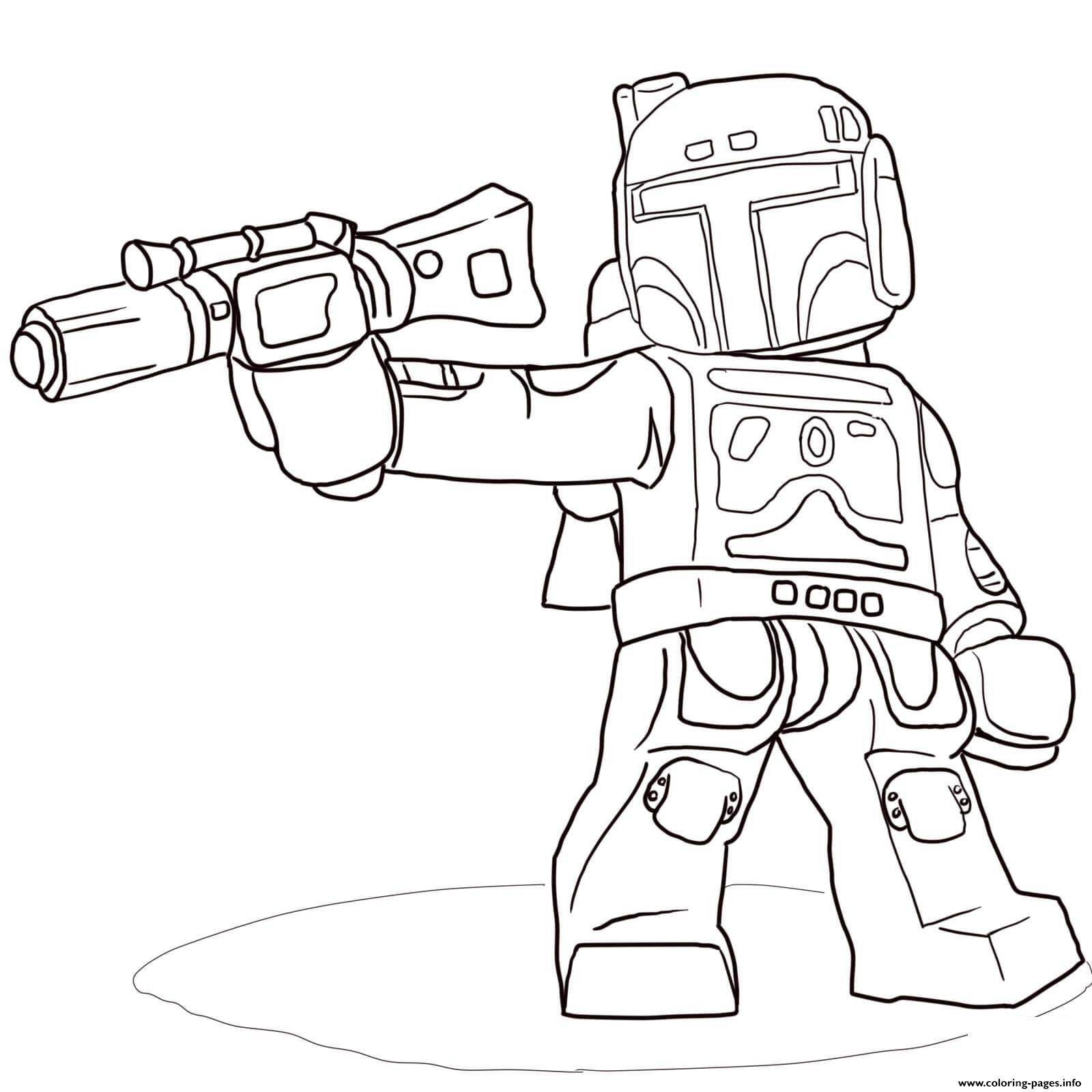Lego Star Wars Boba Fett Coloring Pages Printable Collection