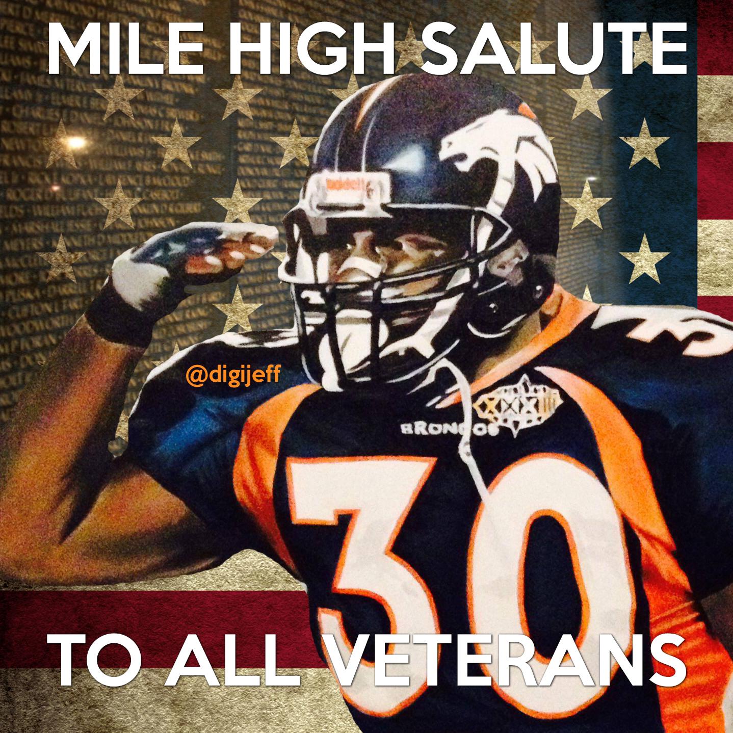 sale retailer 5a32b 4094e Mile High Salute Veterans Day | Denver Broncos memes by ...