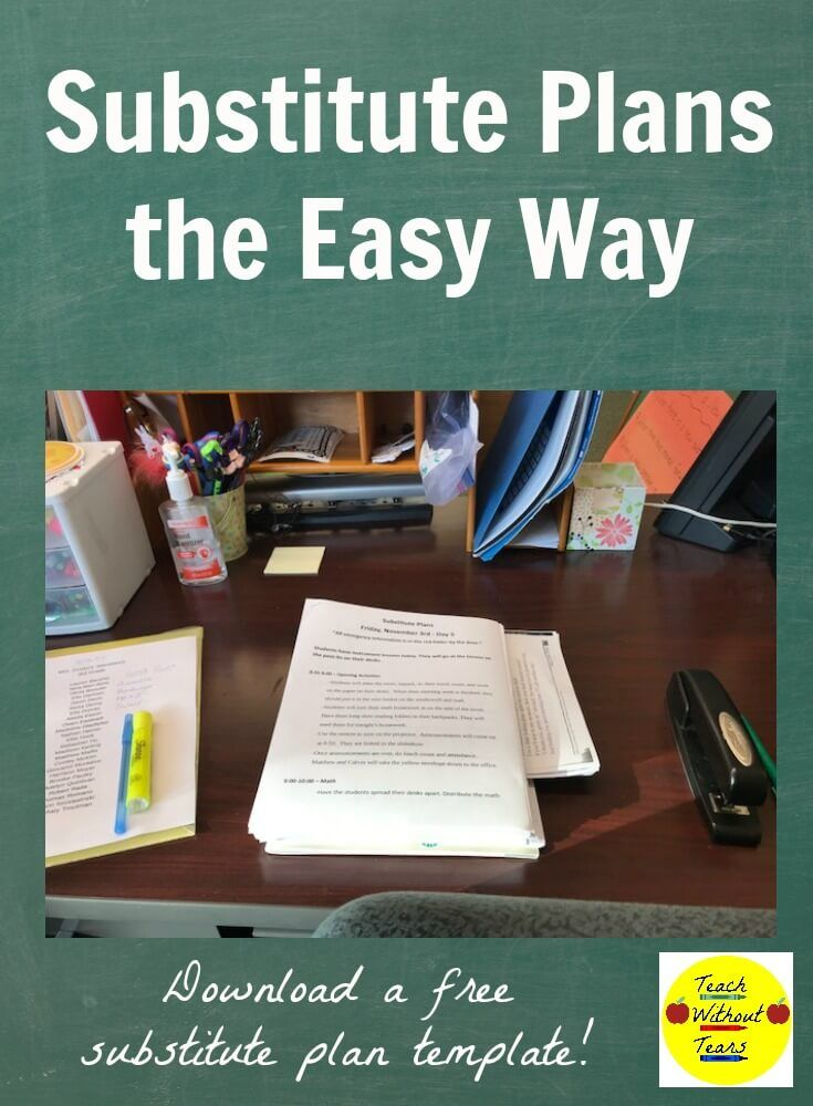 substitute plans the easy way