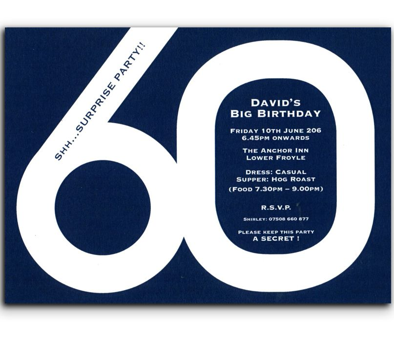 60th Birthday Invitations from heritage Personalised Stationery UK