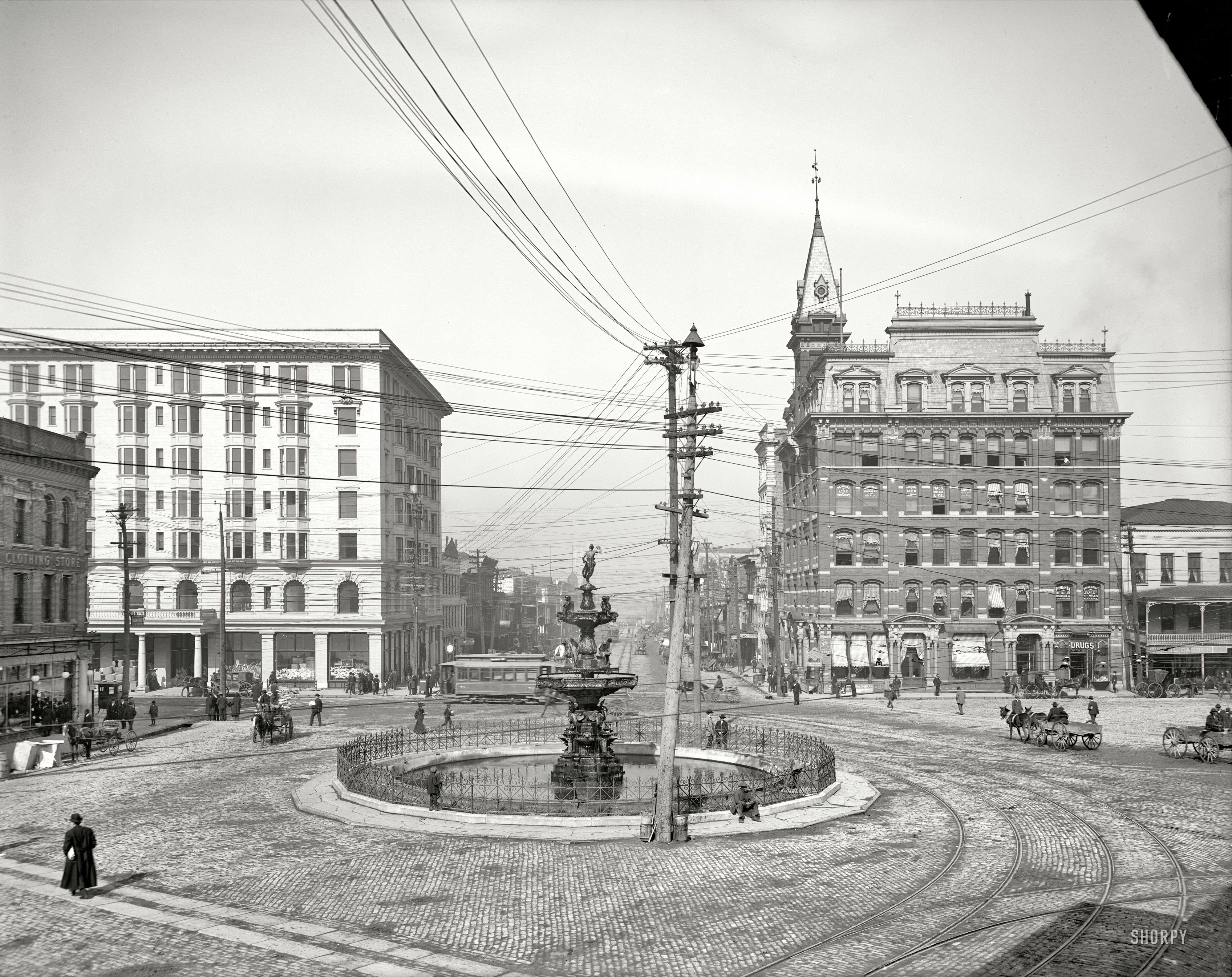 (c. 1906) Commerce Street from Court Square -Montgomery, Alabama