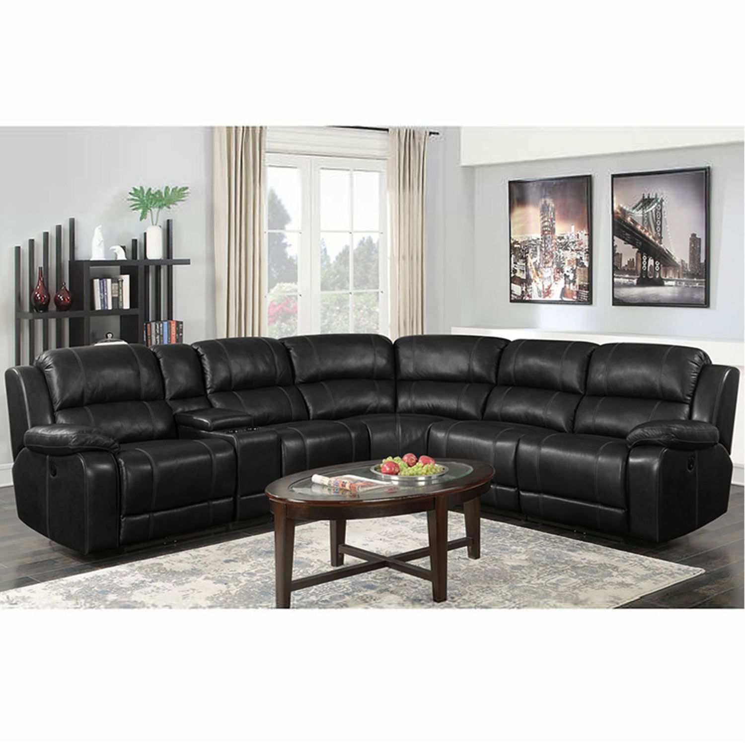 Buy Chesteron Leatherette 6 Seater Recliner Sofa Set Black Online In India Wooden Street In 2021 Reclining Sectional Sofa Set Sofa Set Designs