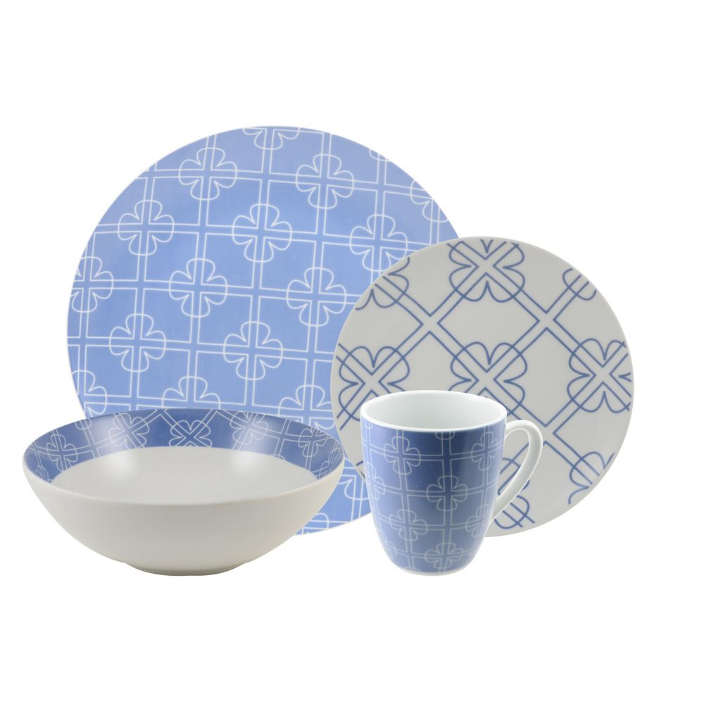 Chloe Blue 16 Piece Dinnerware Set | Overstock.com Shopping - Great Deals on 10  sc 1 st  Pinterest & Chloe Blue 16 Piece Dinnerware Set | Overstock.com Shopping - Great ...