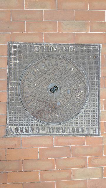 Manhole cover Grasse, France. 2013-06-18 17.48.50