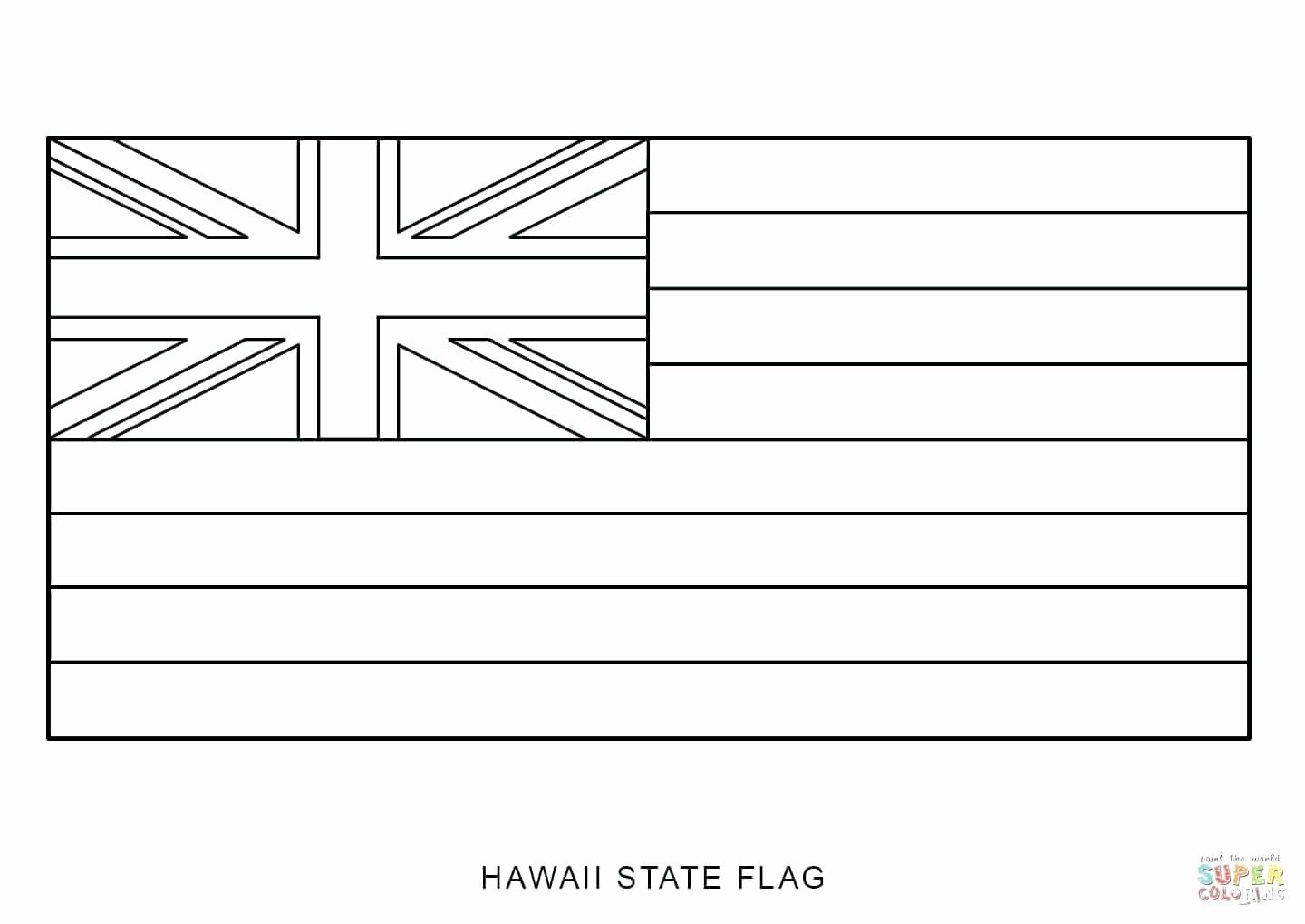 Hawaiian Shirt Coloring Page Unique Hawaii Flag Coloring Pages