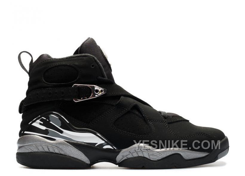 Big Discount 66 OFF Air Jordan 8 Chrome Black Silver