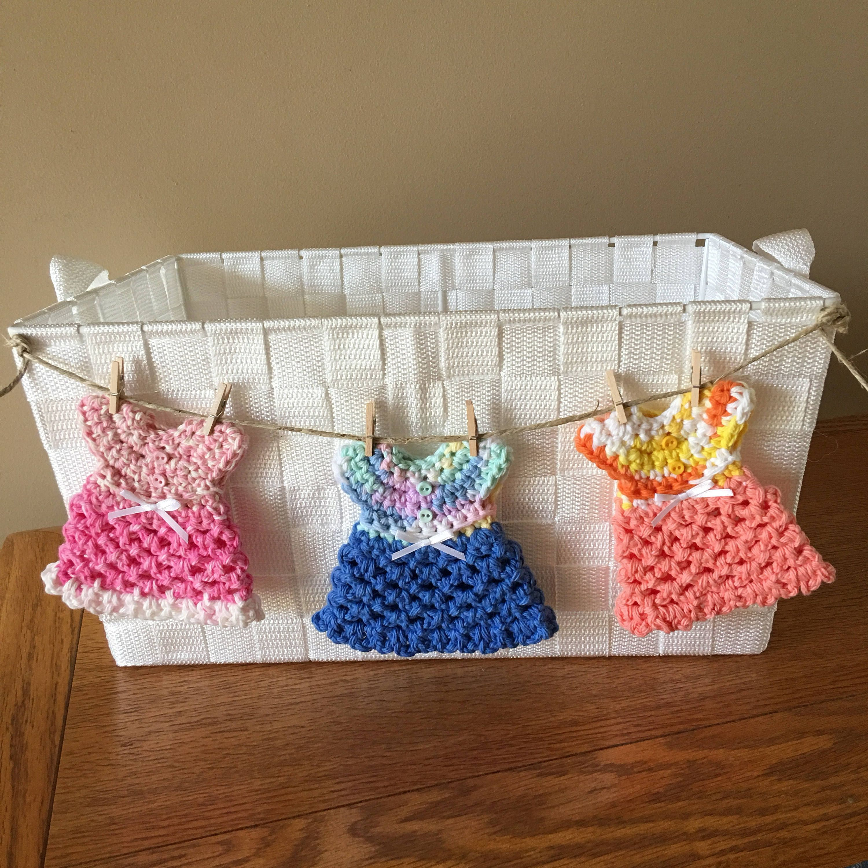 Girl Baby Shower Storage Basket, Mini Clothesline Hanging ...