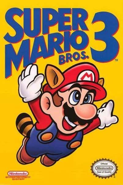 Super Mario Bros 3 Poster 24x36 Videojuegos Retro Personajes De Videojuegos Videojuegos Clasicos