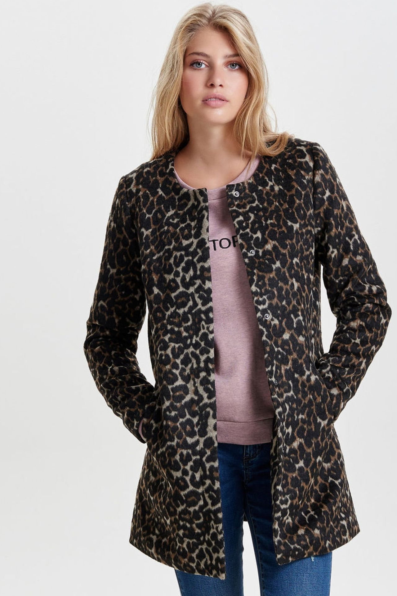 Winterjas Tijgerprint.Only Jas Met Luipaardprint In 2019 Fw18 19 Leopardprint