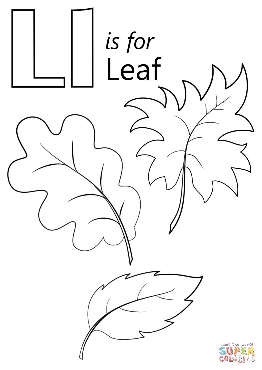 نتيجة بحث الصور عن letter l leafs worksheets preschoolers