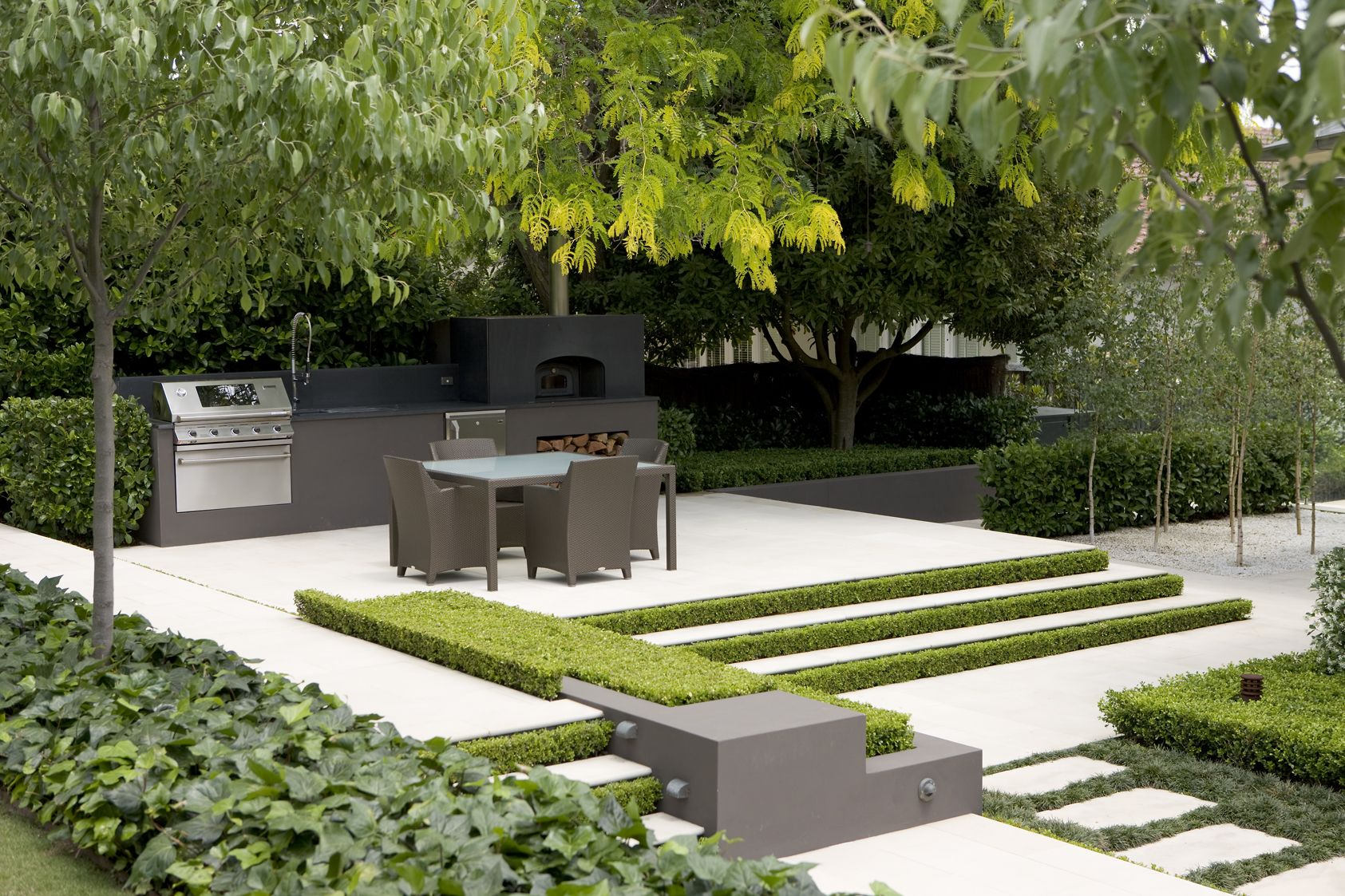 Peter fudge classic french garden landscape design and for French garden design
