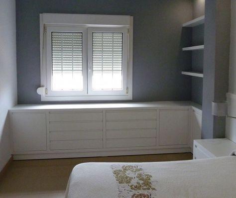 comoda quarto embaixo janela - Pesquisa Google Recamaras Pequeñas