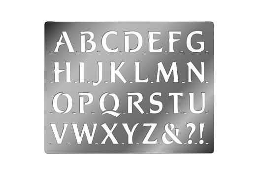 Embossing Stencil, Upper Case Bold Alphabet Stencil template