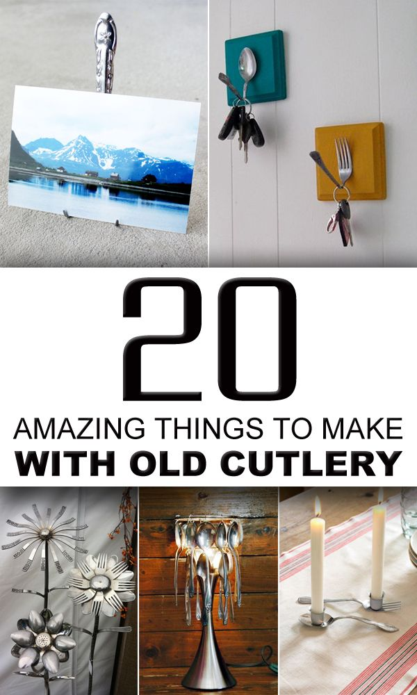 20 Amazing Things To Make With Old Cutlery Silverware Crafts