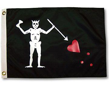 3x5ft Pirate Poly Flag Blackbeard Lives Captain Blackbeard