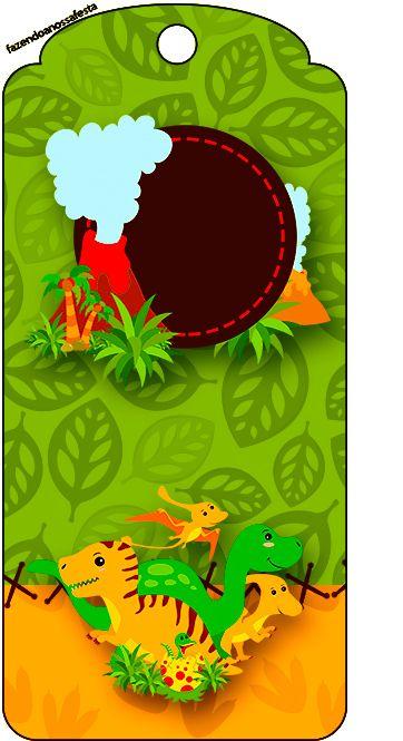 Tag Agradecimento Dinossauro Cute Festa De Aniversario De
