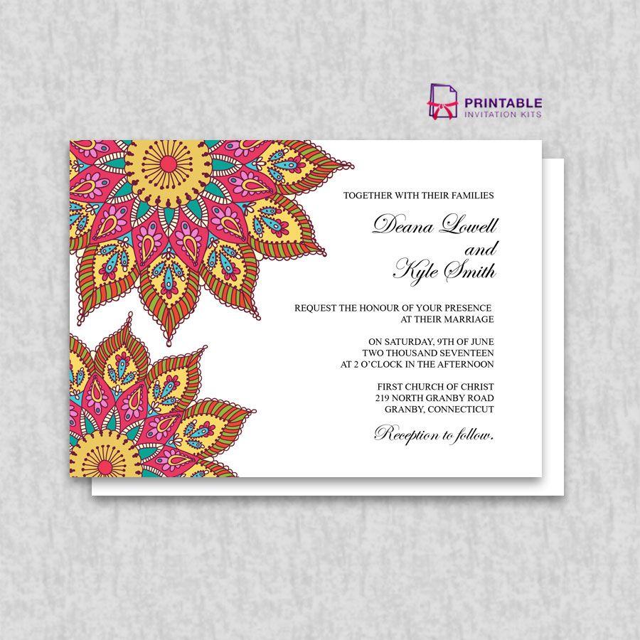 Free printable pdf mandala wedding invitation wedding invitation free printable pdf mandala wedding invitation stopboris Images