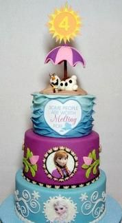 Disney Frozeninspired birthday cakes and cupcakes Disney Cakes