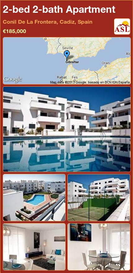2-bed 2-bath Apartment in Conil De La Frontera, Cadiz, Spain ►€185,000 #PropertyForSaleInSpain
