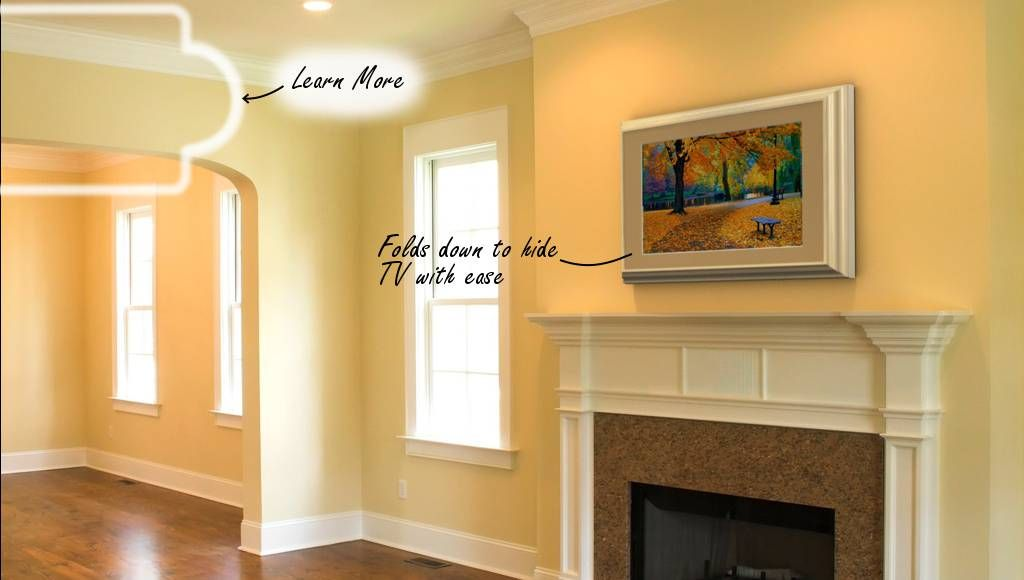Attractive Wall Mounted Tv Ideas Above Fireplace Ornament - Wall Art ...
