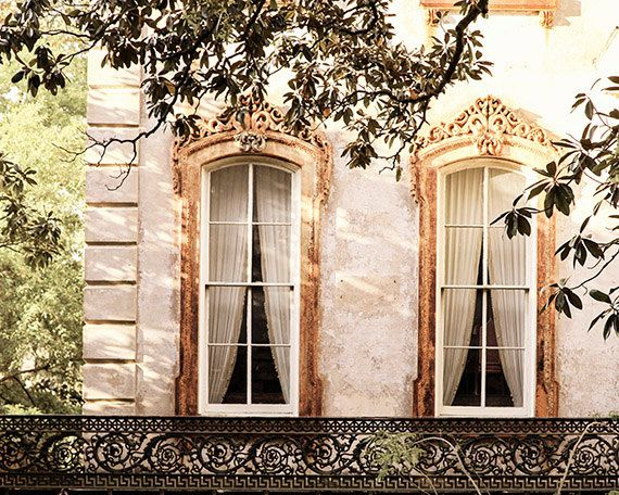 Savannah Window Photograph, Architecture Print, Georgia Fine Art Print, Affordable Home Decor, Travel Photo, Romantic Wall Art, Gift for Her by briole photography.