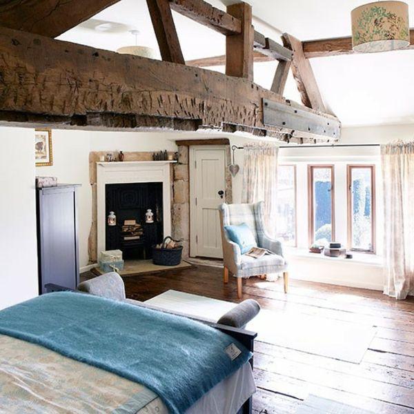 holz rustikal effekt schlafzimmer eiche balken Home Pinterest - schlafzimmer eiche