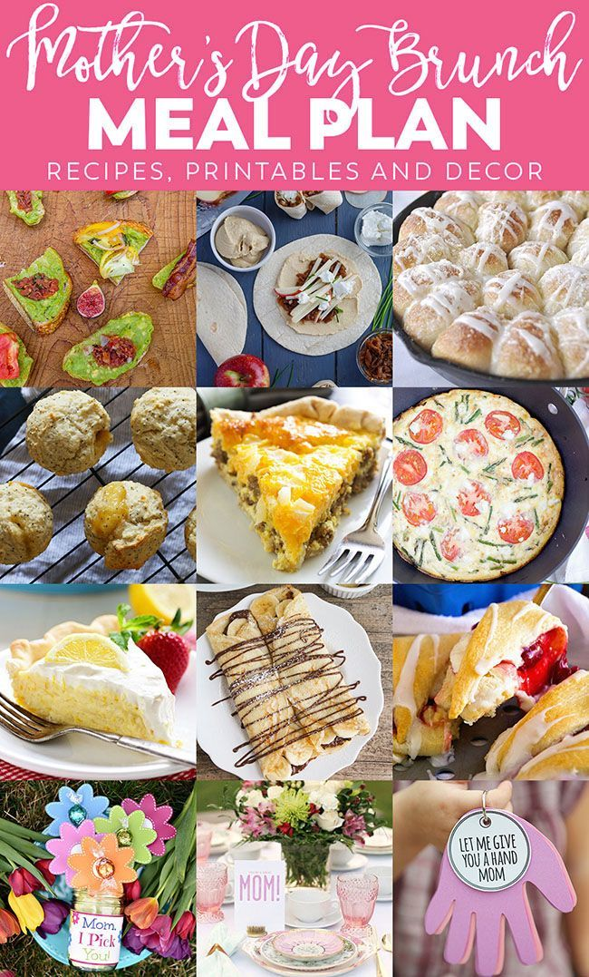 Mother S Day Brunch Meal Plan Mother S Day Brunch Menu Easy Brunch Recipes Mothers Day Meals
