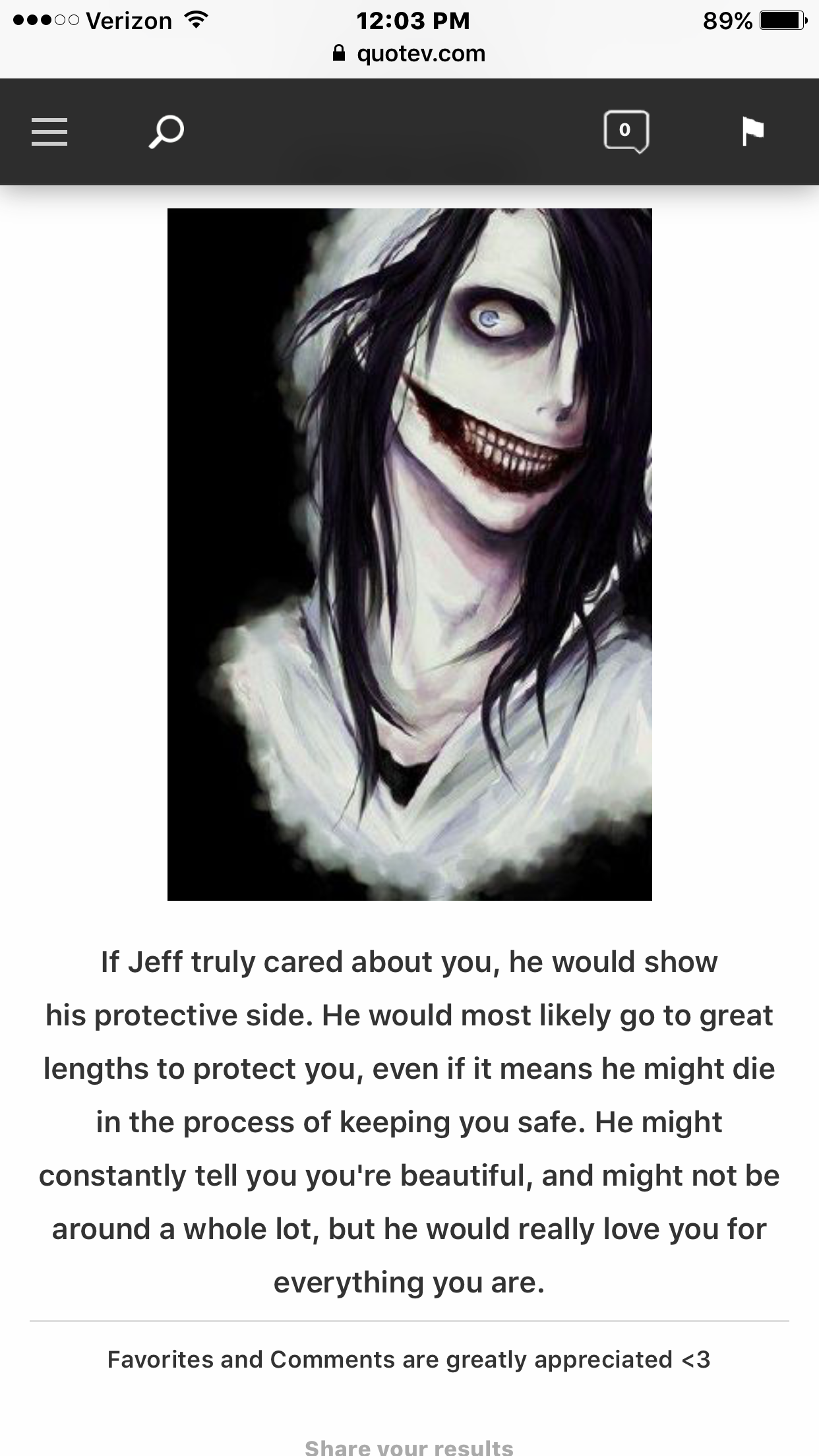 Creepypasta dating quizzes | Which CreepyPasta would date you?