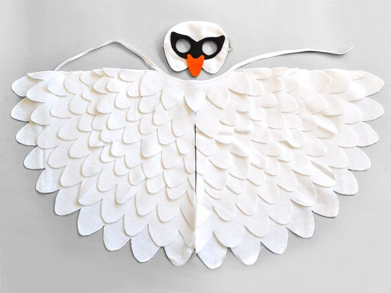 White swan costume for kids. Unique Halloween or Carnival costume for toddlers and young children. | BHB Kidstyle  sc 1 st  Pinterest & White Swan Costume Kids Swan Mask Wings | swan | Pinterest | White ...