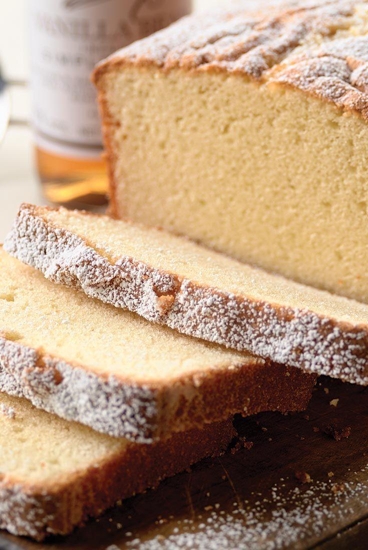 Velvet Pound Cake Recipe Pound cakes Almonds and Cake recipes