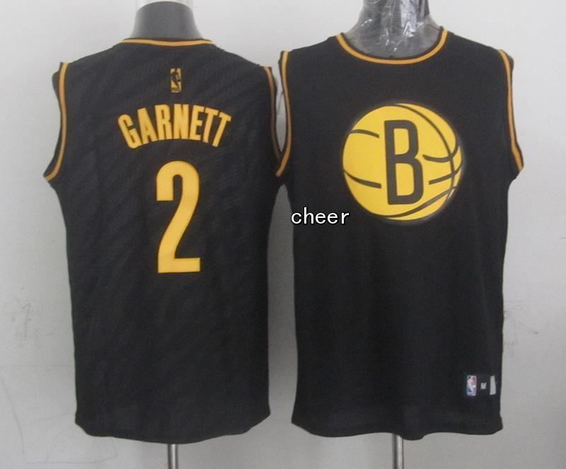 on sale 450b5 fc7f5 NBA fashion Jersey Brooklyn Nets #2 garnett black Jersey ...