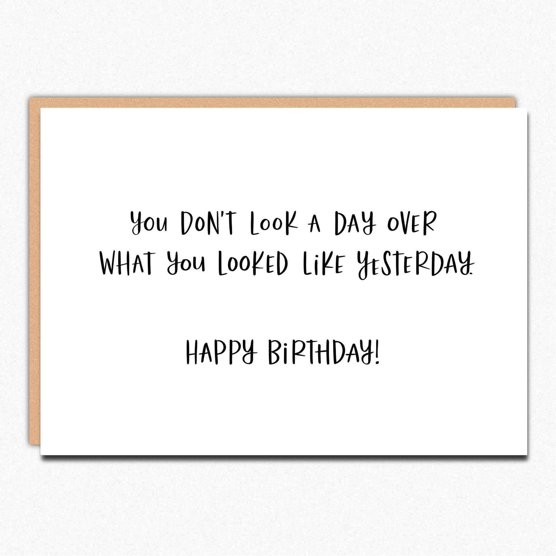 Funny Birthday Card Coworker Friend Birthday Card Sarcastic Sarcastic Birthday Birthday Cards Funny Friend Birthday Cards For Friends