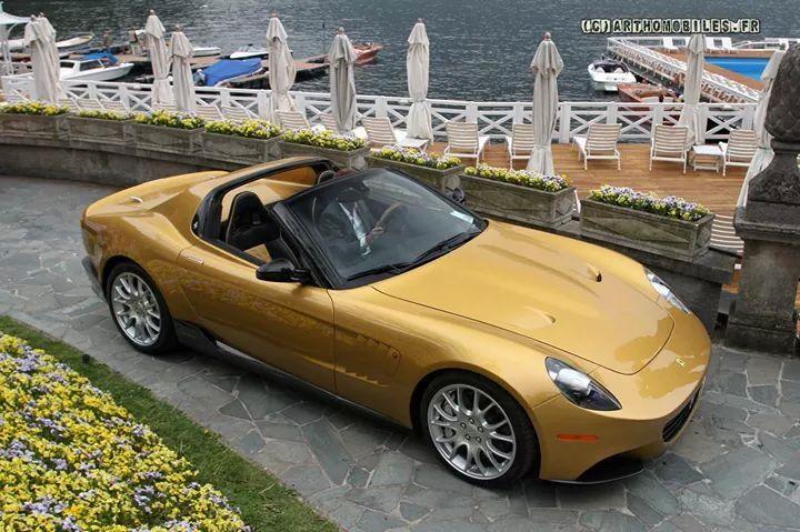 Gold Ferrari