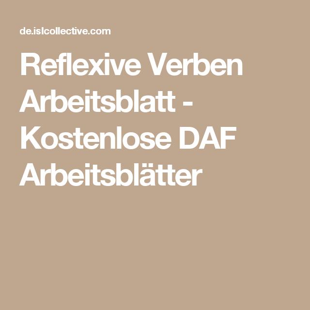 reflexive verben deutsch arbeitsbl tter daf arbeitsbl tter und dativ pr positionen. Black Bedroom Furniture Sets. Home Design Ideas