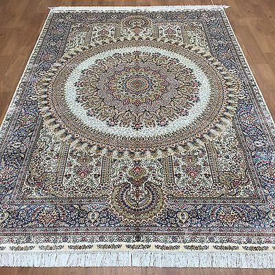 X Chinese Silk Rug Handmade Rugs For Bedrooms Attractive Oriental Pile Warp Weft Cotton Age New Woven Hand Knotted Condition Perfect Size