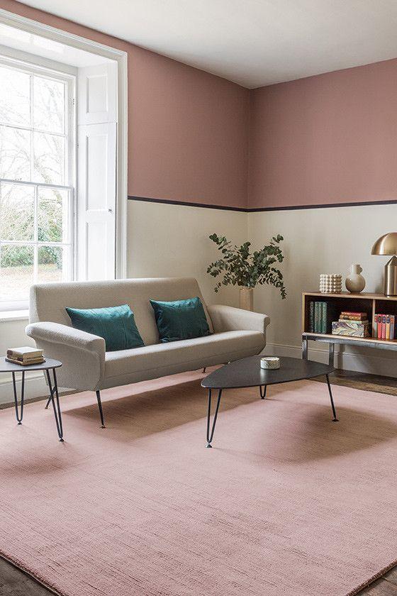 Portobello Pink Pink Living Room Living Room Carpet Contemporary Decor