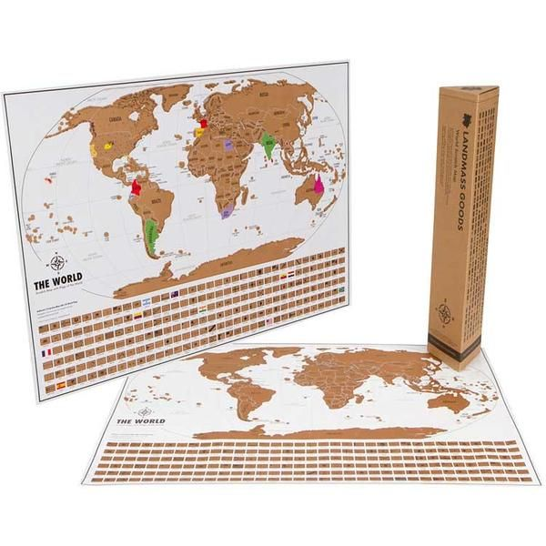 World travel tracker map scratch off map interactive map gift this world travel tracker map from landmass is handsome and functional they also offer a gumiabroncs Image collections