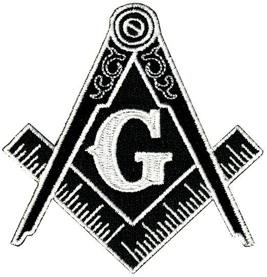 MASONIC FLAG EMBROIDERED PATCH iron-on FREEMASON SQUARE COMPASS