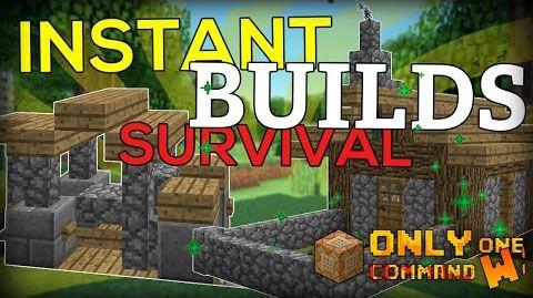 Instant Survival Buildings Command Minecraft Pinterest - Minecraft mittelalter haus command