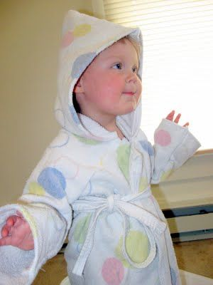 Make A Toddler Robe From A Single Bath Towel Baby Sewing