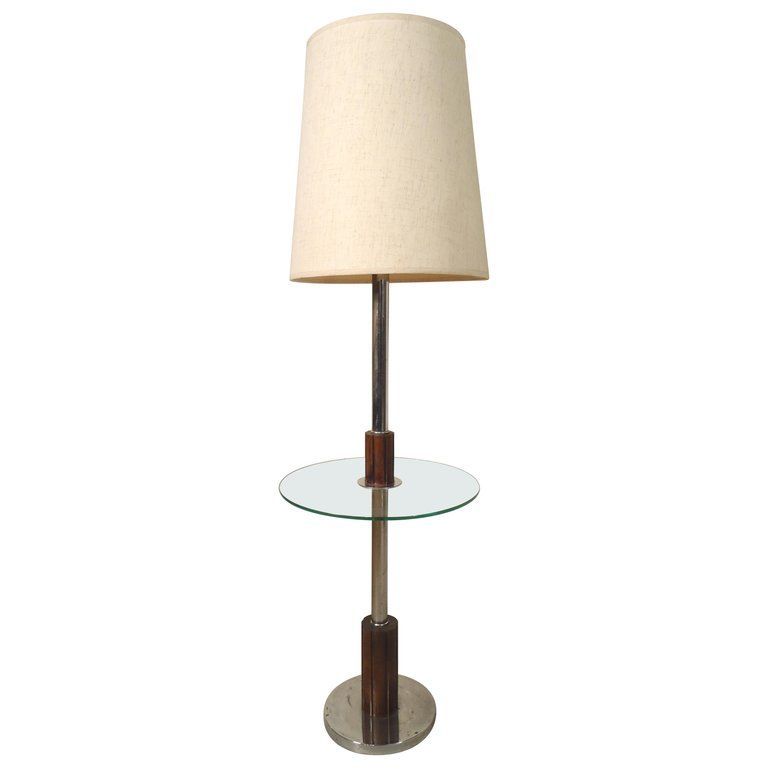 Midcentury Floor Lamp With Table For Sale At 1stdibs Lamp Floor Lamp Mid Century Floor Lamps