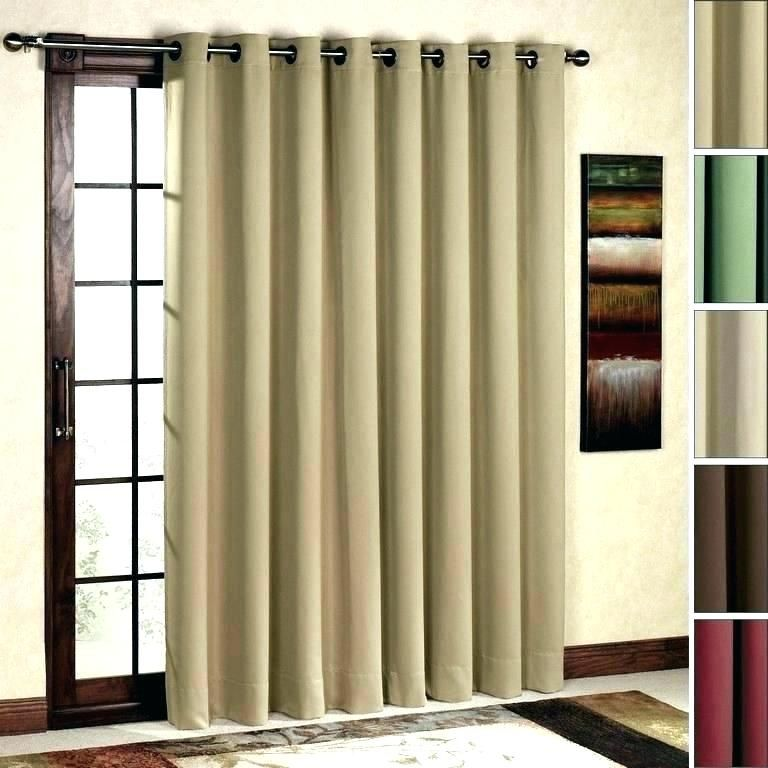 How To Hang Curtain Rod Over Sliding Door In 2020 Sliding Glass