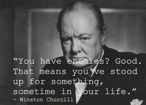 Winston Churchill Quote Inspiration Stand Up For Something