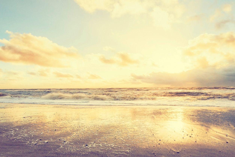 Fototapete Sonnenaufgang Strand