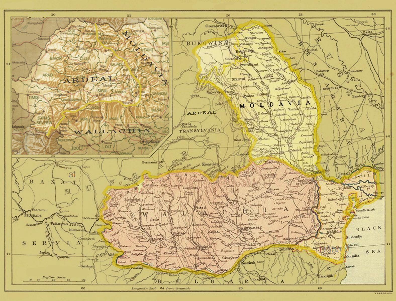 Moldavia Wallachia And Ardeal Transylvania With Images