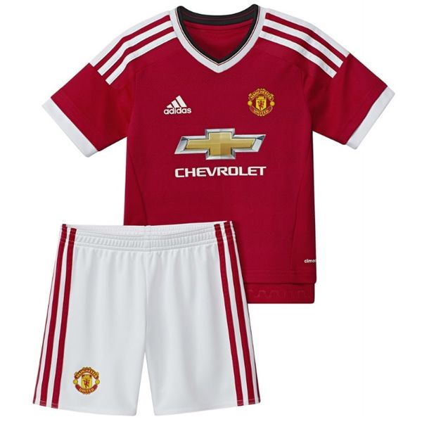 48d7e94e adidas Infants Manchester United 15/16 Home Mini Kit High Risk Red/White