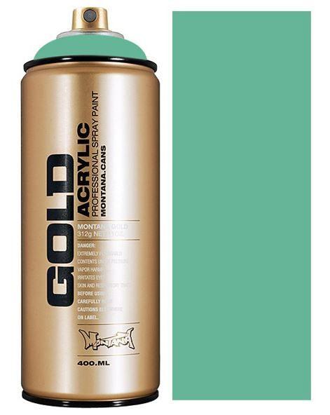 Montana GOLD spuitverf Malachite 400 ml wat een mooie aqua tint is dit, zeker een favoriet nu al voor velen. let op!!